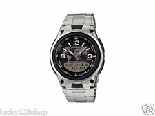 AW-80D-1A2 Japan Movt Genuine Casio Watch 10-Year Battery Life Steel Band Black