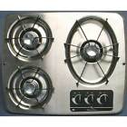 Atwood DV30-S 56472 Stainless Steel 3 Burner Cooktop RV