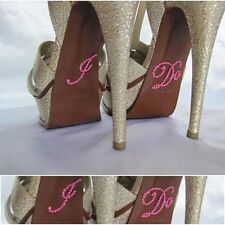 I DO Diamante Crystal Rhinestone Wedding Shoe sticker decal - Light Pink