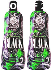 Lot of 2 Deviously Black 45X Dark Bronzer Indoor Tanning Lotion Australian Gold