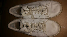 ADIDAS WHITE CLASSICS CUSTOM MADE  TRAINERS SIZE 10 UK DEVLIN