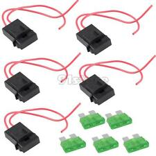 5 Packs 30A Gauge ATC Fuse Holder In-line AWG Wire Copper 12V Power Blade SR1G