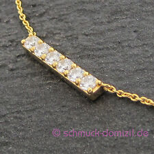 "heart to get - Kette mit Anhänger ""Shine bright like a Diamond"" Silber GELBGOLD"