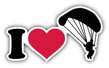 I Love Skydiving Car Bumper Sticker Decal 5'' x 3''