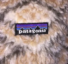 Patagonia Fuzzy Zip Front Hooded Jacket Size M