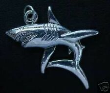 LOOK New 13+ GRAMS Shark Silver pendant charm JAWS Jewelry