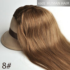 """Clips in 100% Real Human Hair Extensions Full Head Set 16""""-30"""" 15 Colors"""