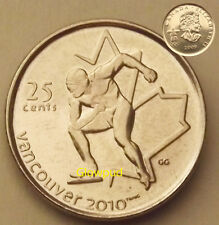 CANADA COIN .25c VANCOUVER 2010 WINTER PARA OLYMPIC GAMES SPEED SKATING *UNC