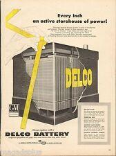 1954 Delco Battery Original Vintage Print Ad