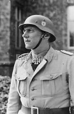 WW2 Photo Otto Skorzeny posing with the Knight's Cross of the Iron Cross 649