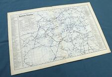RAILWAY MAP OF CENTRAL LONDON, 1896  -  Original Antique Map , Bacon.