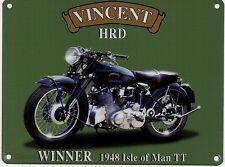 Vincent HRD Motorcycle, Classic/Vintage Motorbike, Large Metal/Tin Sign, Picture