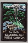 SOUVENIR PATCH- SEQUOIA AND KINGS CANYON NATIONAL PARK - FOOTHILLS