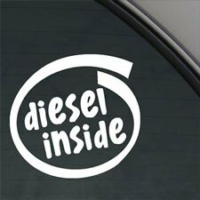 White Diesel Inside Decal Sticker Fuel Lid Ford Figo Classic Endeavour Fiesta