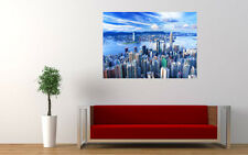HONG KONG SKYLINE VIEW NEW GIANT LARGE ART PRINT POSTER PICTURE WALL