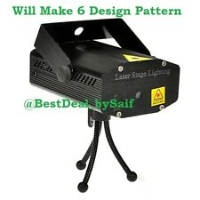 MINI DJ LASER STAGE LIGHT FOR DISCO PARTY CLUB/DIWALI/XMAS | 6 Design Pattern