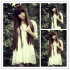 Sexy Womens Korean Style Girls Cosplay Party Long Straight Full Hair Wig 3 Color