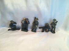 5 Collectible Vintage Antique Led Metal WWII World War Toy Soldier Army Men