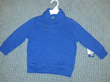 NWT Ralph Lauren Boys 2T Blue Shawl Collar Pullover Sweater Sold for $55