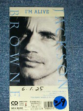 """JACKSON BROWNE Japan Only 1993 Tall 3"""" CD Single I'M ALIVE"""