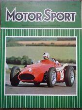 MOTOR SPORT OCT 1974 Citroen CX Ferrari Dino 308 GT4 Maserati 450S V8 Lawrence