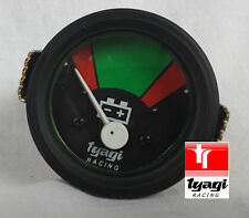 VINTAGE VAN AUTO TRATTORE gauge clock 12 V BATTERIA METER QUADRANTE NERO AMPEROMETRO