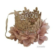 Gorgeous Baby Gold Lace Crown Headband Hair Band