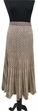 SPIRIT OF THE ANDES Skirt Size S L35in Beige & Brown Stretch Pima Cotton Boho