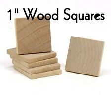 "LOT of 100 ~ WOOD SQUARE ~ 1"" ~ Wood Cutout Craft Shape ~ Unfinished ~ by PLD"