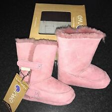 Emu Baby Bootie Hi Pink Age 12/18 Months New With Tags And Box