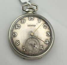 VERY RARE-LONGINES-SWISS POCKET WATCH 15J, 3 ADJ, 14 kw gold filled correct time