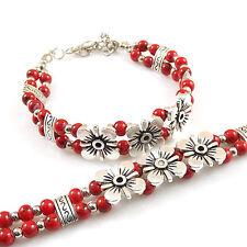 DIY NEW Fashion Free shipping Jewelry Tibet jade turquoise bead bracelet S233D