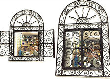 "Moroccan Wrought Forged Iron Wall Sun Arch Door Mirror Design 29"" x 19.5 """