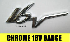 CHROME 16V BADGE SILVER 3D EMBLEM STICKER DECAL RENAULT CLIO 172 182 F1 TROPHY