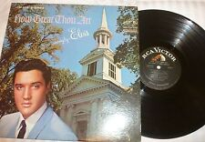 33 RPM RECORD - ELVIS PRESLEY - RCA VICTOR LSP-3758 - STEREO - HOW GREAT THOU AR