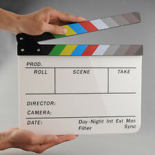 New Colorful Clapperboard Acrylic Movie Action Slate Clapper Board Handmade