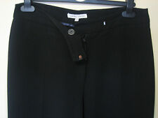 L2) WOMENS LOVELY LAURA ASHLEY BLACK STRAIGHT TROUSERS  SIZE 12  LEG 30