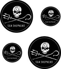 STICKER AUFKLEBER ADESIVI SEA SHEPHERD JOLLY ROGER PEGATINA PIRATE FLAG CIRCLE