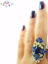 New Arrival 925 Sterling Silver Ring Size 9 Women Sapphire Turkish Jewelry R2260