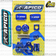 Apico Bling Pack Blue Blocks Caps Plugs Clamp Cover For Husqvarna TE 250 14-16