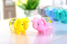 Set of 5 Pcs. Cute Elephant Shaped Pencil Sharpner