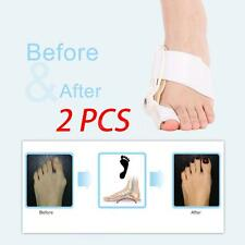 2pcs Hallux Valgus Big Toe Bunion Splint Straightener Corrector Foot Care G9Q2
