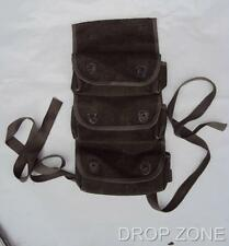 Post WWII French Army Military Webbing 3 Pocket Grenade Pouch
