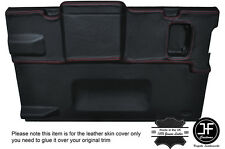 RED STITCH TAILGATE DOOR CARD LEATHER COVER FITS LAND ROVER DEFENDER 90 88-02