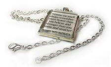 """Winnie the Pooh Quote """"Promise Me"""" Quote Glass Tile Pendant Necklace Gift Idea"""