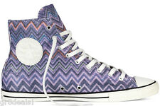 CONVERSE MISSONI Purple ZIGZAG Hi-Top ALL STAR Hollyhock SNEAKERS Womens Sz 10.5