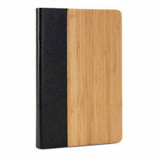 Apple Ipad Mini real wood back cover case bamboo walnut saple pu leather