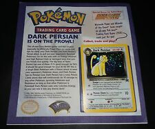Pokemon Card DARK PERSIAN #17 Mounted Nintendo Power Flyer Black Star Holo Promo