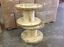 "XLARGE Wooden Spool Cable Wire Reels, Great for tables, H21.5"" X 31 5/8""D"