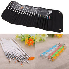 Nail Art 20PCS UV Gel Design Painting Pen Brush Set for Salon Manicure DIY Tool